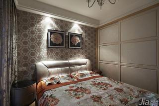 新古典风格二居室60平米卧室卧室背景墙衣柜设计
