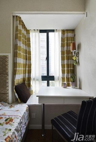 新古典风格二居室60平米飘窗书桌效果图