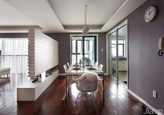 现代简约风格20万以上140平米以上餐厅隔断地板效果图