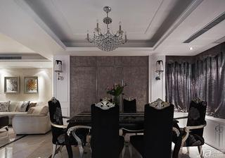 新古典风格三居室富裕型餐厅餐厅背景墙隐形门效果图