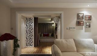 新古典风格三居室富裕型开放式书房地板效果图