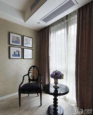 新古典风格三居室140平米以上阳台窗帘效果图