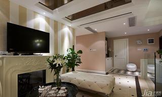 混搭风格别墅140平米以上电视背景墙地砖效果图