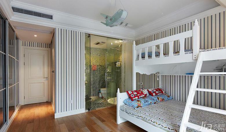 混搭风格别墅140平米以上卫生间儿童床图片