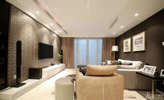 现代简约风格三居室120平米电视背景墙设计