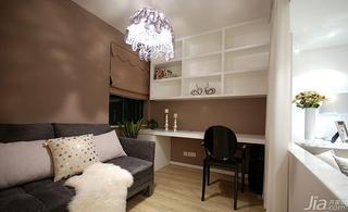 现代简约风格三居室130平米书房沙发床图片