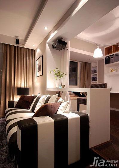二居室装修效果图大全2013图片 现代简约风格二居室唯美...