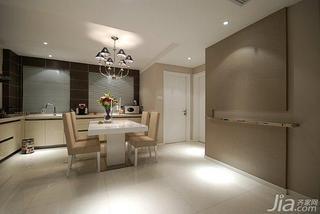 现代简约风格三居室90平米餐厅吊顶灯具效果图
