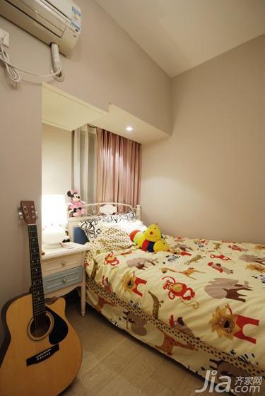 现代简约风格三居室90平米儿童房儿童床效果图