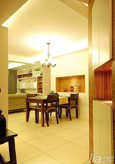 美式风格三居室100平米玄关改造