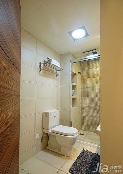美式风格三居室100平米卫生间吊顶马桶图片