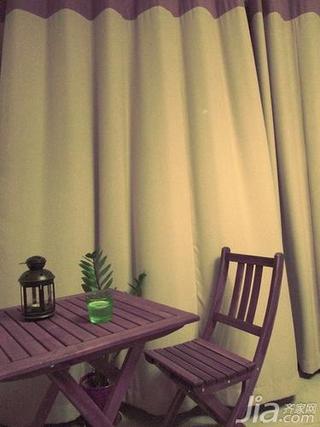 混搭风格二居室90平米阳台窗帘图片