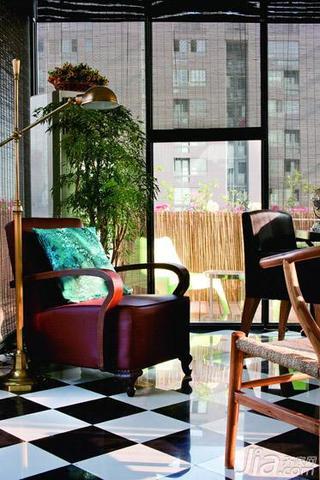 混搭风格复式140平米以上书房单人沙发图片