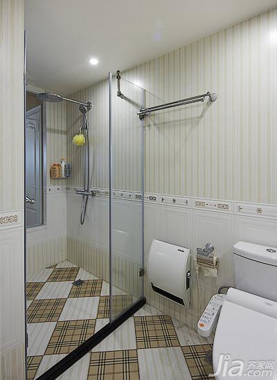 美式风格三居室140平米以上主卫淋浴房设计图高清图片