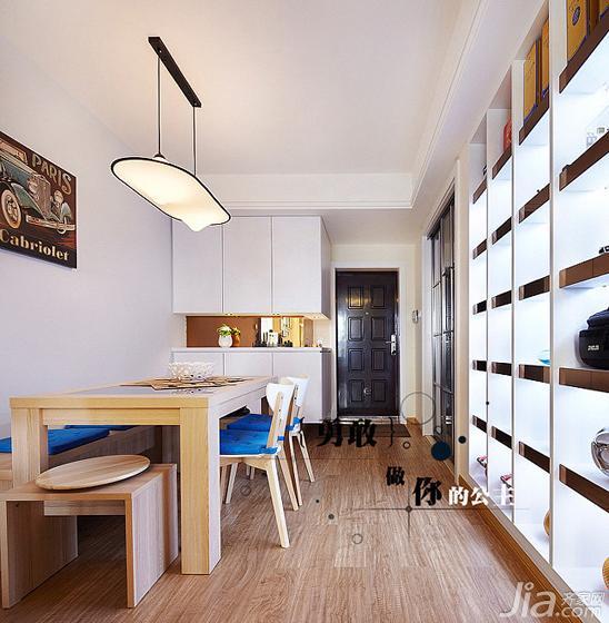 简约风格二居室80平米餐厅设计