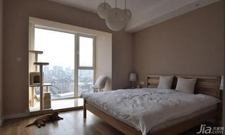简约风格二居室130平米卧室地板图片