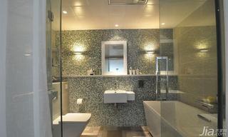简约风格二居室130平米主卫洗手台效果图