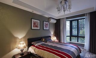 新古典风格三居室120平米卧室儿童灯效果图