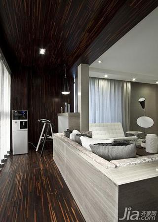 现代简约风格三居室140平米以上阳台吊顶地板效果图
