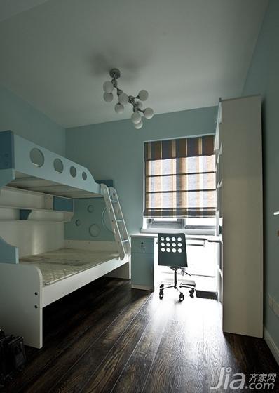 现代简约风格三居室140平米以上儿童房儿童床效果图
