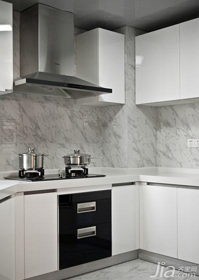现代简约风格三居室140平米以上厨房橱柜安装图