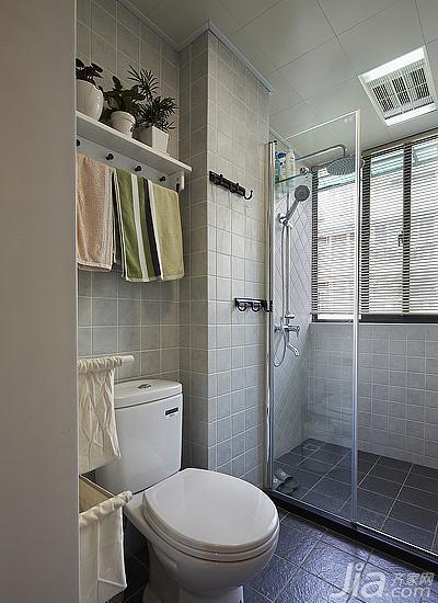 美式风格三居室90平米卫生间淋浴房设计图纸高清图片
