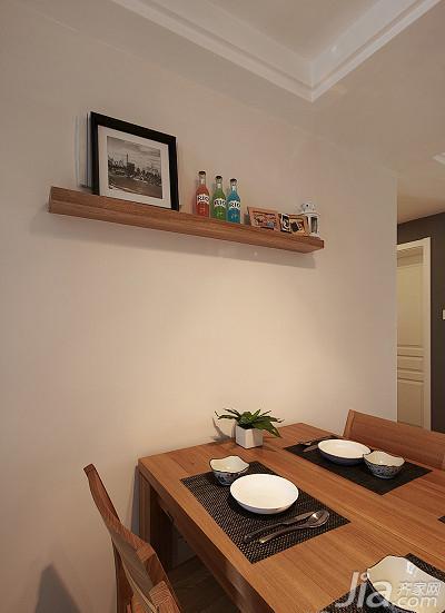 日式风格三居室90平米电视背景墙电视柜效果图