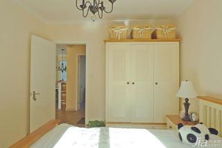 美式乡村风格二居室小清新90平米卧室衣柜衣柜设计图纸