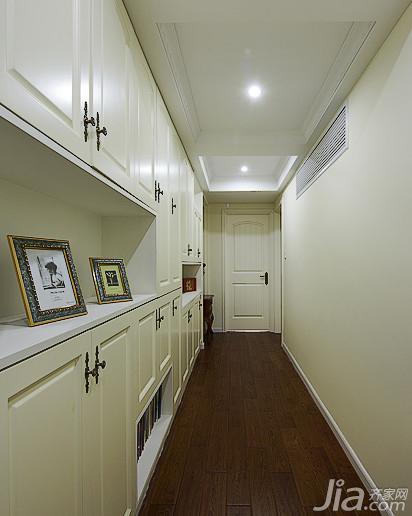 美式乡村风格复式140平米以上走廊收纳柜效果图