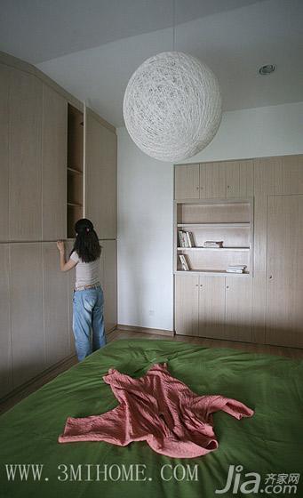 三米设计混搭风格复式衣柜设计