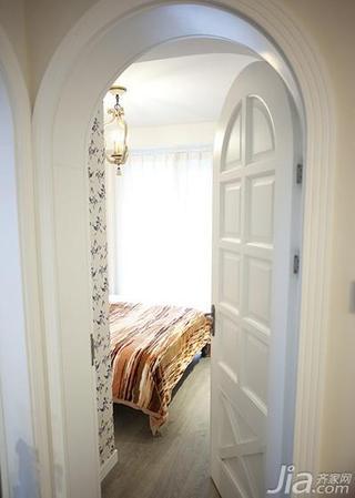 地中海风格二居室80平米卧室木门图片