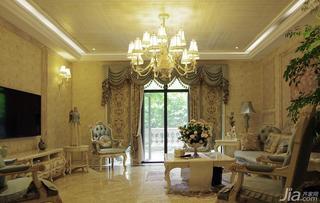 欧式风格别墅140平米以上客厅吊顶窗帘效果图