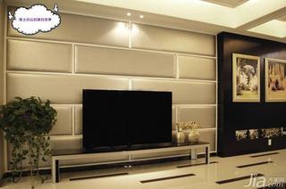 新古典风格复式富裕型电视背景墙地砖效果图