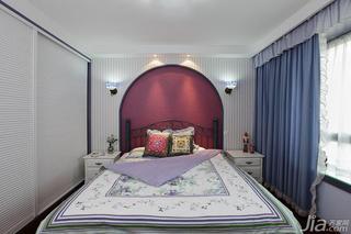混搭风格四房130平米卧室卧室背景墙窗帘效果图