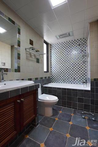 混搭风格四房130平米卫生间吊顶浴室柜图片