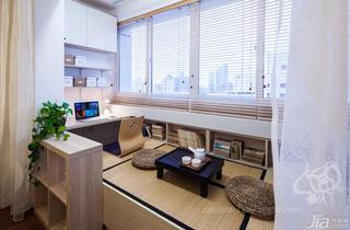 现代简约风格二居室100平米阳台榻榻米效果图