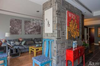混搭风格复式140平米以上隔断墙装修图片