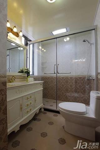 欧式风格二居室100平米卫生间地砖效果图