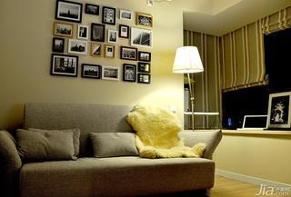 简约风格三居室富裕型100平米书房照片墙沙发80后平面图