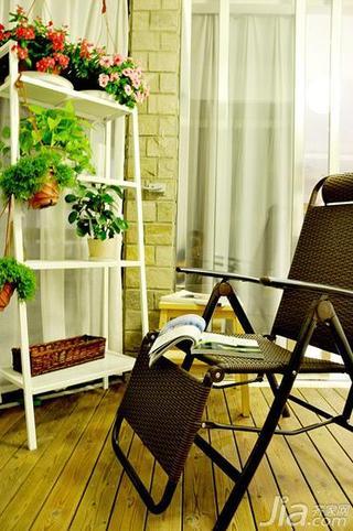 简约风格三居室富裕型100平米露台花架80后家装图片