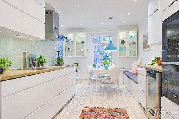 北欧风格公寓白色70平米厨房海外家居