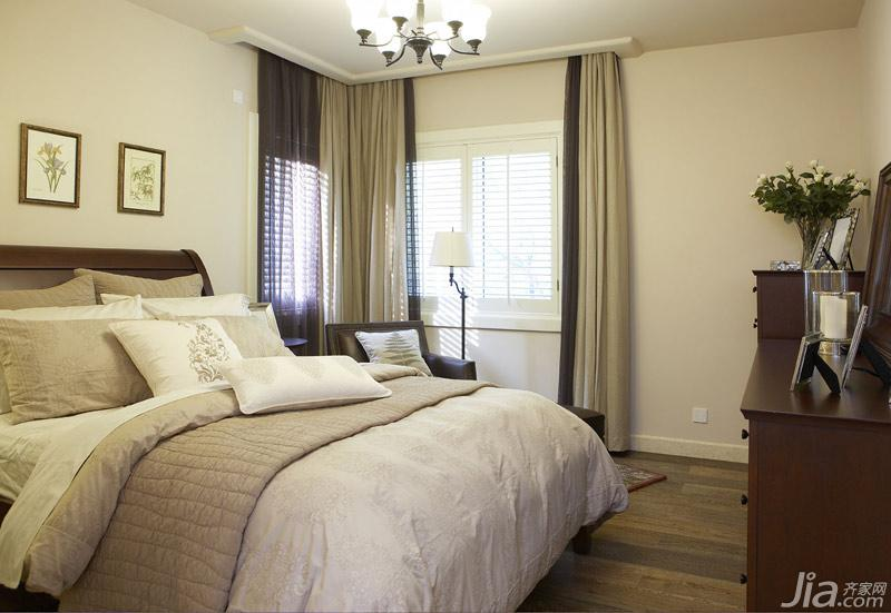田园风格别墅豪华型卧室装修图片