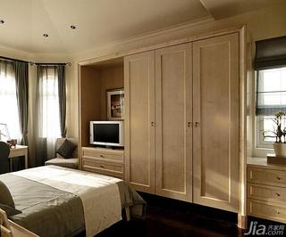 欧式风格别墅豪华型卧室衣柜设计图纸