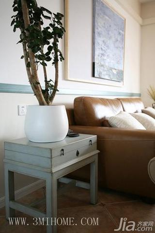 三米设计田园风格三居室装修设计