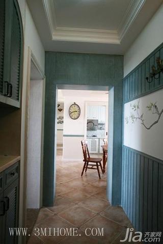 三米设计田园风格三居室过道吊顶设计