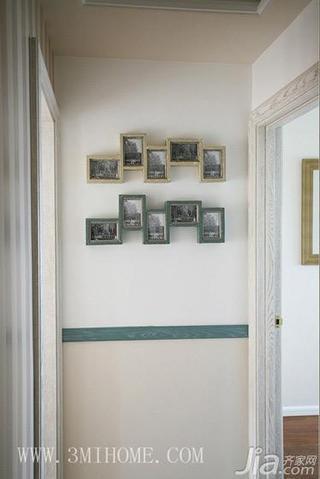 三米设计田园风格三居室照片墙效果图