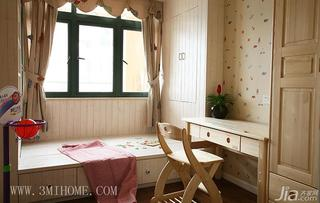 三米设计田园风格三居室儿童房窗帘效果图