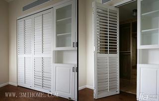 三米设计田园风格三居室衣柜设计