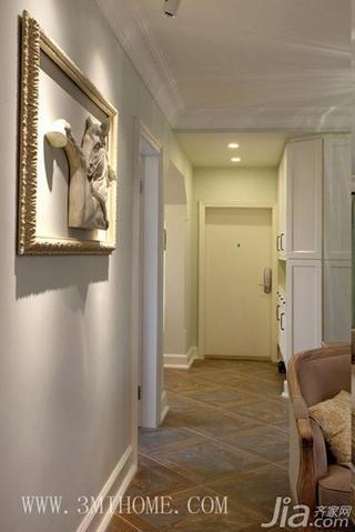三米设计美式风格100平米客厅过道效果图