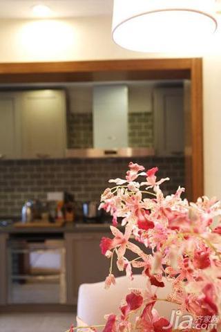 美式乡村风格四房梦幻130平米厨房设计图